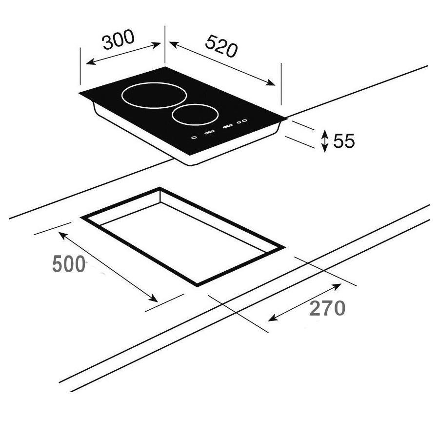 Bếp Domino 2 từ Teka IR 321