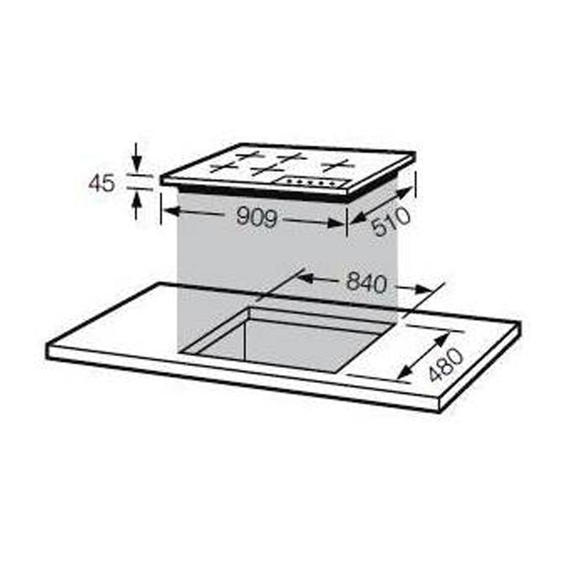 Bếp gas âm inox Fagor 3FI – 95GLSTX/BUT